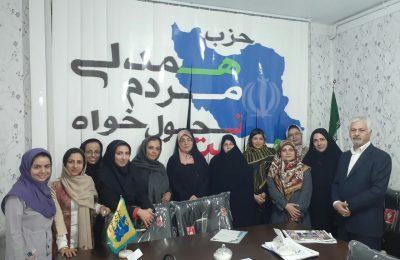 گزارش تصویری از جلسه سازمان بانوان حزب همت و اعطای حکم هیات رئیسه توسط دبیرکل حزب