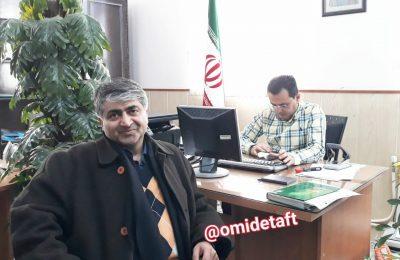 حضور دکتر حمیدرضا امینی بفروئی در ستاد انتخابات شهرستان تفت جهت ثبت نام