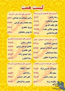 لیست مجلس همت به انتخاب ملت