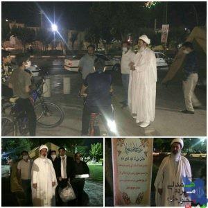 توزیع ماسک در شب عید غدیرخم
