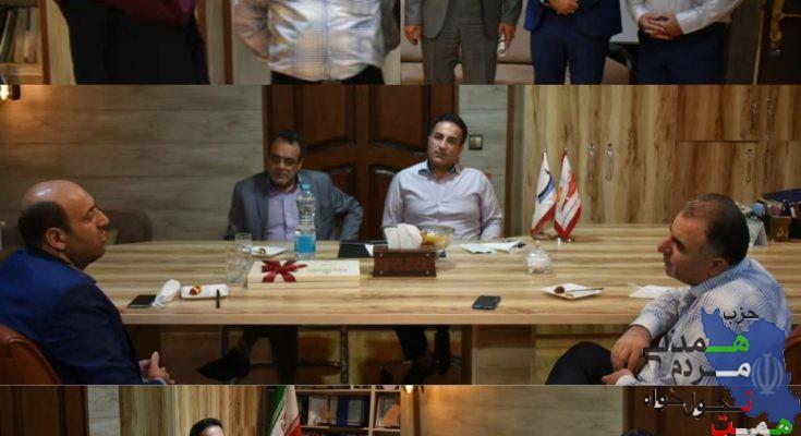 میزبانی از سه عضو حزب همت استان البرز در دفتر خبر فردیس