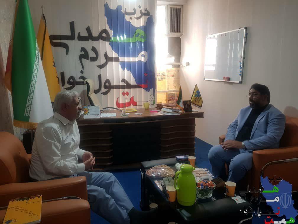 دیدار دوستانه با دبیر کل جمعیت جوانان انقلاب اسلامی
