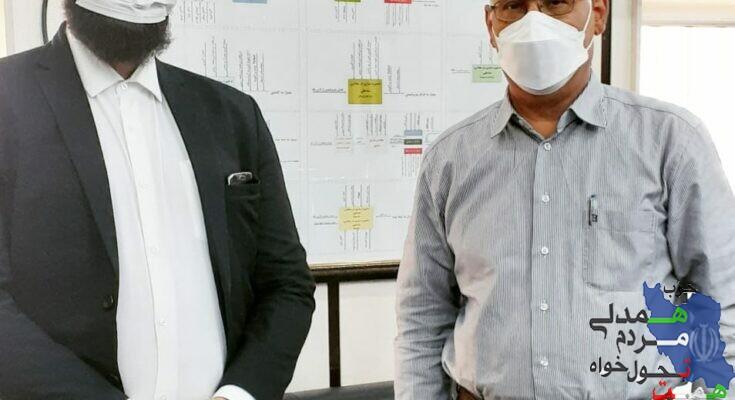 دیدار مهندس عباس فخری مسئول حزب همت در استان خوزستان با رییس پالایشگاه شهرستان آبادان