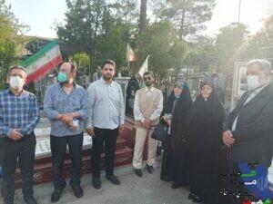 تجدید عهد و پیمان مسئول حزب همت تهران با شهدا